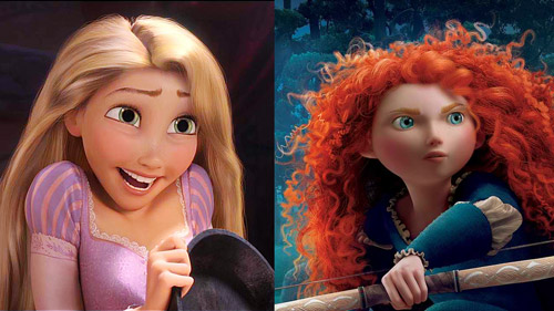 Rapunzel and Merida
